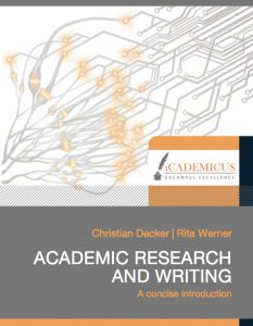 Academic research and writing 9783981558616